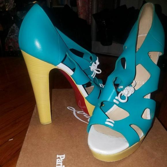 christian louboutin high heel sandals